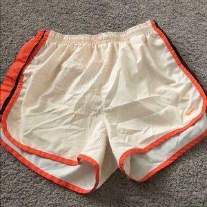 Pants - Super Cute orange and white Nike running shorts